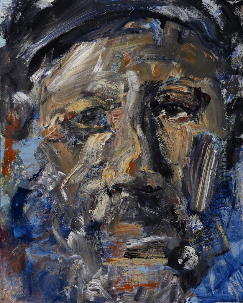 man with a past, 2009, 60 x 48 incharcoal and acrylic on canvasexhibition: under black mountain